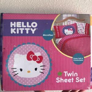 Hello Kitty Twin bed Sheet set